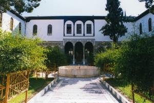 A lush Damascene Courtyard.