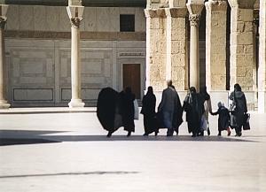 Courtyard of the Omayyad Mosque.
